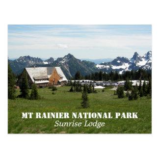 Mount Rainier National Park Lodge Travel Postcard