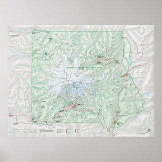 Mount Rainier National Park Poster