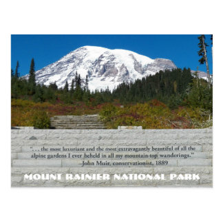 Mount Rainier National Park Quote Travel Postcard