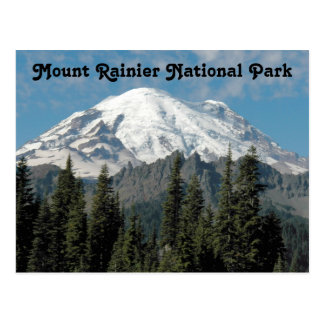 Mount Rainier National Park Travel Postcard