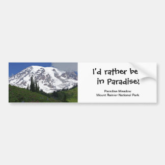 Mount Rainier Paradise Meadow Bumper Sticker