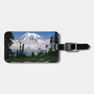 Mount Rainier relected in a mountain tarn Luggage Tag