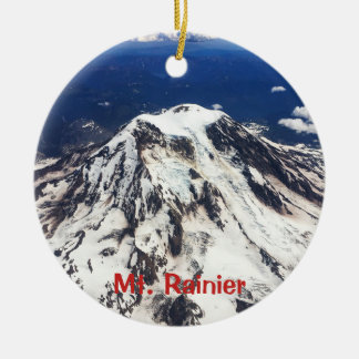 Mount Rainier, Washington, Cascades Ceramic Ornament