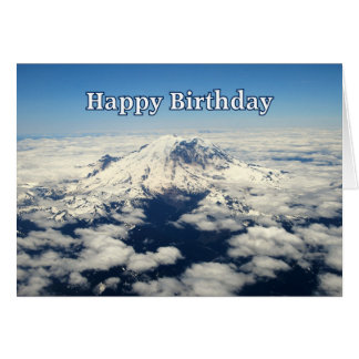Mount Rainier, Washington, Happy Birthday Card