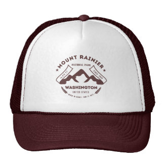 Mount Rainier Washington Trucker Hat