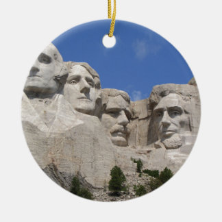 Mount Rushmore Ceramic Ornament