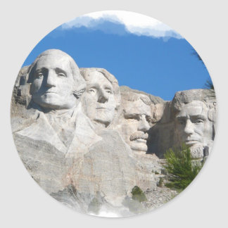 Mount Rushmore Classic Round Sticker