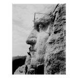 Mount Rushmore construction Poster