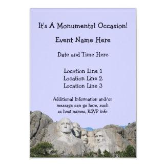 Mount Rushmore Custom Invitations