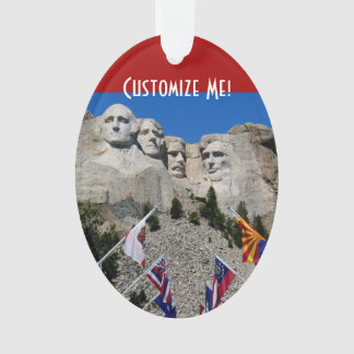Mount Rushmore Customizable Photo Souvenir Ornament