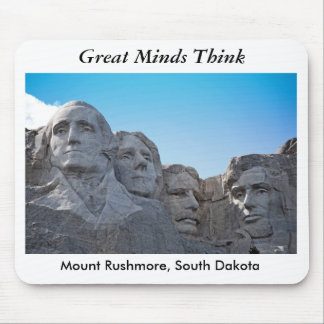 mount rushmore, Great MindsThink Mouse Pad