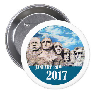 Mount Rushmore, January 20, 2017 3 Inch Round Button