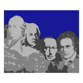 Mount Rushmore of Composers Poster