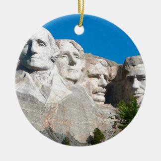 Mount Rushmore Rocks! Mount Rushmore, South Dakota Ceramic Ornament