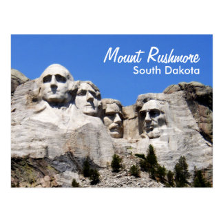 Mount Rushmore South Dakota Postcard