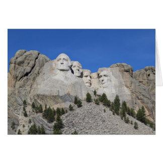 Mount Rushmore South Dakota Presidents USA America Card