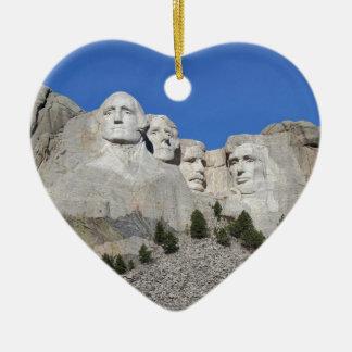 Mount Rushmore South Dakota Presidents USA America Ceramic Ornament