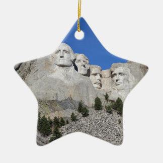 Mount Rushmore South Dakota Presidents USA America Ceramic Star Ornament