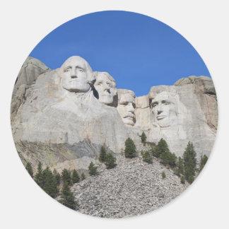 Mount Rushmore South Dakota Presidents USA America Classic Round Sticker