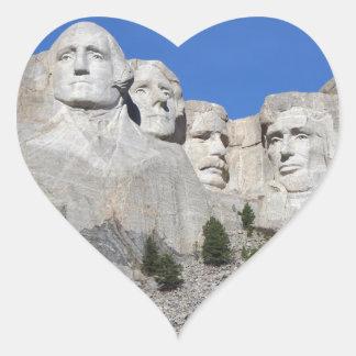 Mount Rushmore South Dakota Presidents USA America Heart Sticker