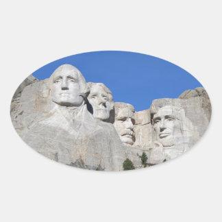 Mount Rushmore South Dakota Presidents USA America Oval Sticker