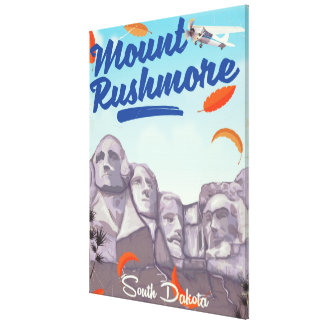Mount Rushmore Vintage Style travel poster. Canvas Print