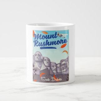 Mount Rushmore Vintage Style travel poster. Large Coffee Mug