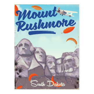 Mount Rushmore Vintage Style travel poster. Postcard