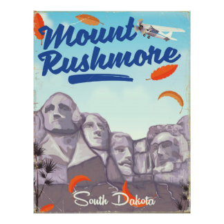 Mount Rushmore Vintage Style travel poster. Poster