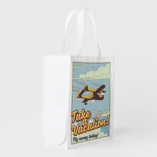 Mount Rushmore Vintage Style travel poster. Reusable Grocery Bag