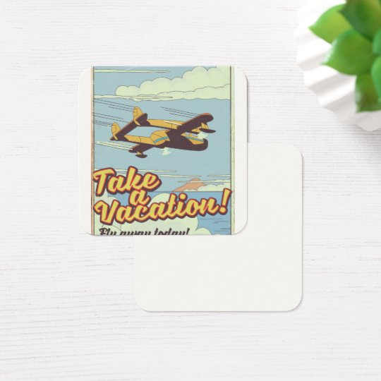 Mount Rushmore Vintage Style travel poster. Square Business Card