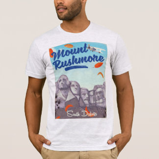 Mount Rushmore Vintage Style travel poster. T-Shirt