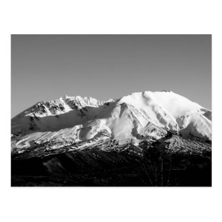 Mount Saint Helens in February Monochrome Postcard