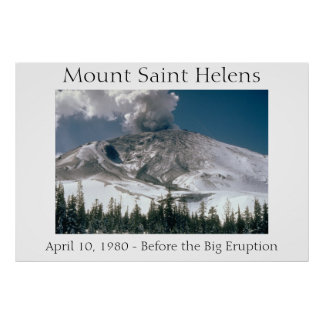 Mount Saint Helens - Pre-Eruption Poster