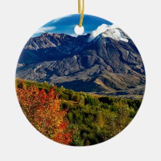 Mount Saint Helens, Washington Round Ceramic Ornament