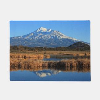 MOUNT SHASTA AND GOLDEN TULLES DOORMAT