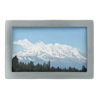 Mount Shasta California Mountain Landscape Nature Belt Buckle