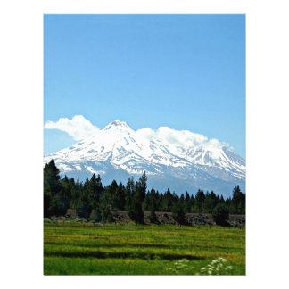 Mount Shasta California Mountain Landscape Nature Letterhead