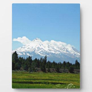 Mount Shasta California Mountain Landscape Nature Plaque
