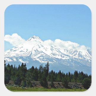 Mount Shasta California Mountain Landscape Nature Square Sticker