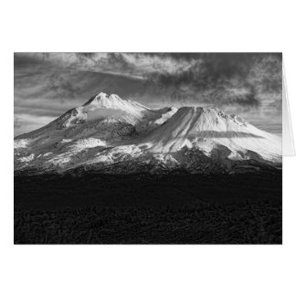 MOUNT SHASTA IN BLACK AND WHITE CARD