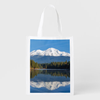 MOUNT SHASTA REUSABLE GROCERY BAG