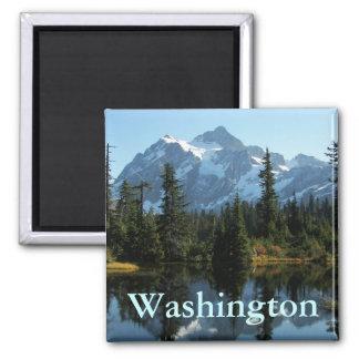 Mount Shuksan, Washington Photo Square Magnet