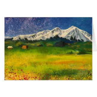 Mount Sopris in Carbondale, Colorado Card