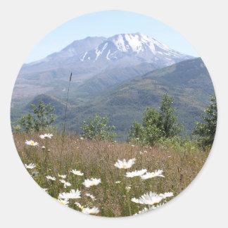 Mount St. Helens Classic Round Sticker