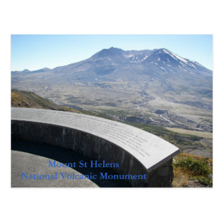 Mount St Helens National Volcanic Monument Travel Postcard