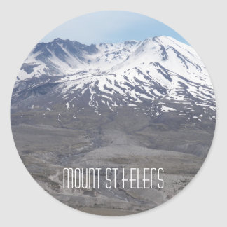 Mount St Helens Photo Classic Round Sticker