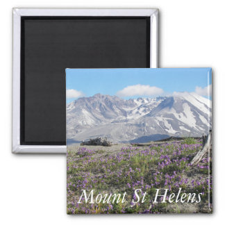 Mount St Helens Photo Square Magnet