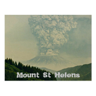 Mount St Helens Volcano Eruption Postcard
