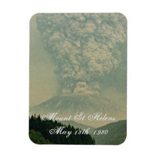 Mount St Helens Volcano Eruption Rectangular Photo Magnet